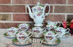 Vintage Paragon Sur Rendez-vous Fine Bone China Rockingham' Coffee Set