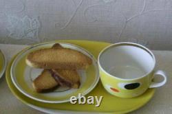 Vintage Porcelaine À La Main Thé À La Maison Tasses Et Assiettes De Cuisine 8 Set Urss Mark