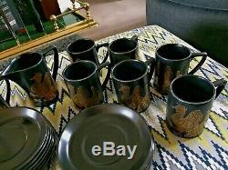 Vintage Portmeirion Coffee Set Phoenix Par John Cuffley Fabriqué En Angleterre