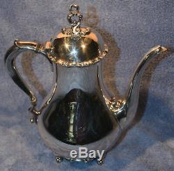 Vintage Reed & Barton Provincial 7040 5 Pc Silverplated Thé / Café Set & Plateau