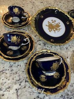 Vintage Reichenbach Echet Cobalt Thé / Café Set! Fabriqué En Allemagne