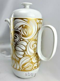 Vintage Rosenthal Coffee Set Coffee Pot Creamer Sugar Bowl Or Et Blanc