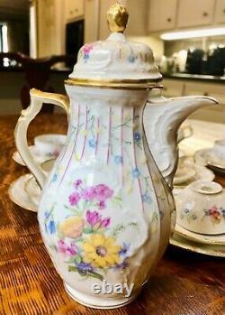 Vintage Rosenthal Sanssouci Demitasse Ensemble De Café Pour 6