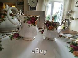 Vintage Royal Albert 1962 Old Country Roses Thé Et Café Set 38 Piece