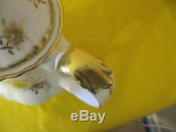 Vintage Royal Albert Antoinette Gold Coffret À Café 21 Pièces, Utilisé Dans Vgc