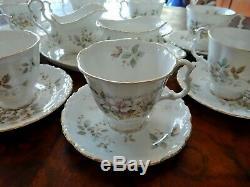 Vintage Royal Albert Haworth 15pc Café Parfaits Soucoupe Pot À Lait Sugar Bowl