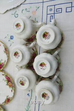 Vintage Royal Albert Old Country Roses Ensemble De Café 1962+