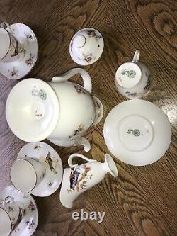 Vintage Royal Doulton Birds Part Coffee Set Circa 1920s Pattern H1422