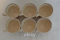 Vintage Royal Doulton Orchid D5215 Earthenware 13pce Coffee Set 1932 Black Trim