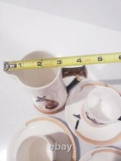 Vintage Royal Doulton Reynard The Fox Demitasse Coffee Set Porcelaine