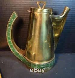 Vintage Salvador Brass Mexique 4 Pc Set Café