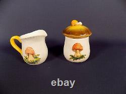 Vintage Sears Roebuck And Co 1978 Mushroom Coffee Set + Salt & Pepper Pot