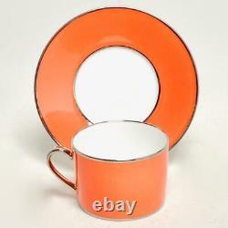 Vintage Set De 8 Legle Porcelaine D'art Limoges Coffee Cups & Saucers