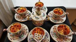 Vintage, Set De Café R. Capodimonte E & B Avec Bol À Sucre.