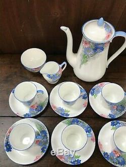 Vintage Shelly Fine Bone Anglais Chine Thé / Café Set Décoration Florale
