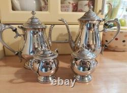 Vintage Silver Plaqué Sur Copper Afternoon Tea & Coffee Set 4 Pièces Par Towle