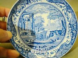 Vintage Spode Italienne Bleu Transfert À Thé De Café Pour Six Pièces 15 1970+