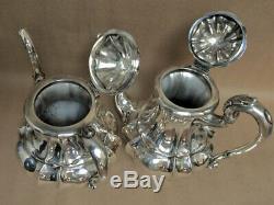Vintage Sterling Silver 4 Pièces 800 Thé Et Café Set 3000 Grammes +