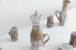 Vintage Studio Pottery Coffee Set Par Mask Pottery St Ives