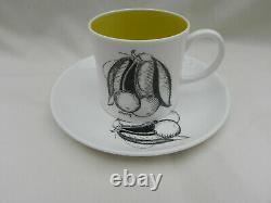 Vintage Susie Cooper Fruits Noirs Coffee Pot Set Comprend 5 X Tasses Et Soucoupes