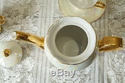 Vintage Tchécoslovaquie 15 Set Pieces Café Nacre Luster Set 2