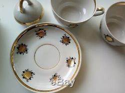 Vintage Tea 13 Piece / Café Set Riga Porcelaine Collection Antique Originale