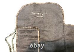 Vintage Tiffany Ny Argent Sterling Coffee Spoons Du Désert Ensemble De Valises 6 Monnaie Cadeau