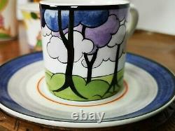 Vintage Wedgwood Clarice Cliff Edition Limitée Express Coffee Cups Set Rare