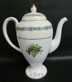 Vintage Wedgwood W3257 Appledore Peint À La Main 21 Piece Set Café 1ère Qualité