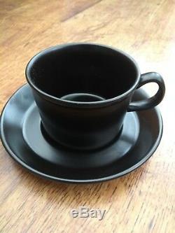 Wedgwood & Barlaston Service À Café Noir Vintage Excellent État