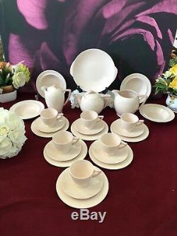 Wedgwood Set De Café Vintage En Porcelaine Art Déco Blush Rose, 26 Pièces