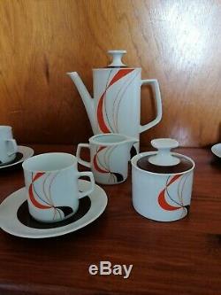 Winterling Marktleuthen Set Bavière Café Vintage, Noir Orange, Noir Et Blanc